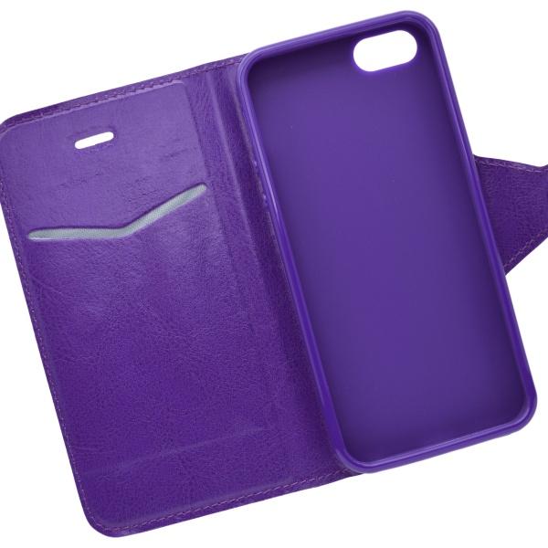 Knižkové puzdro na mobil iPhone 5 5s SE fialové - Mobil24.sk ... e98e6f540e7