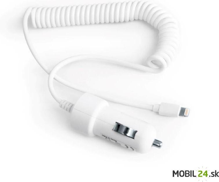 Autonabíjačka iPhone 5 neoriginál blue-in biela 1000mAh - Mobil24.sk ... 48f8c500196