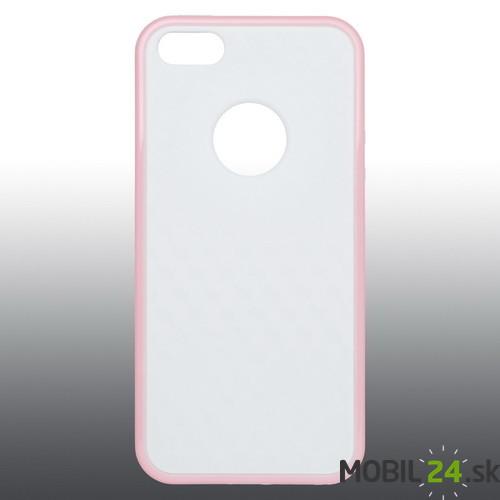 Puzdro na mobil iPhone 5 5s SE gumené bielo-ružové 208f5c9246b