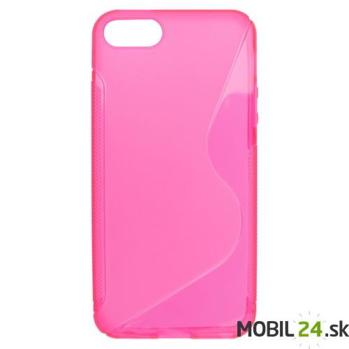 Puzdro na mobil iPhone 5 5S SE gumené ružové 11fc27d486f