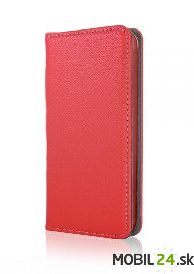 Knižkové puzdro iPhone 5 5S SE červené magnet 36a51aec2cb