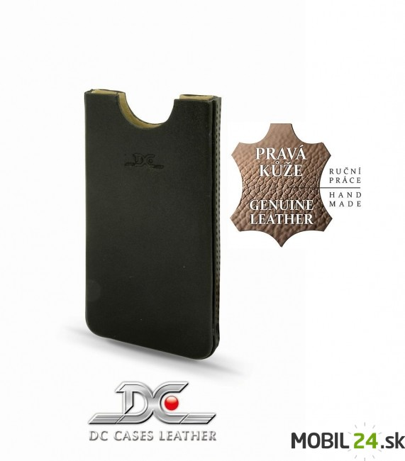 Puzdro na iPhone 4 4s kožené DC BOX Soft čierne f6429b4d6bb