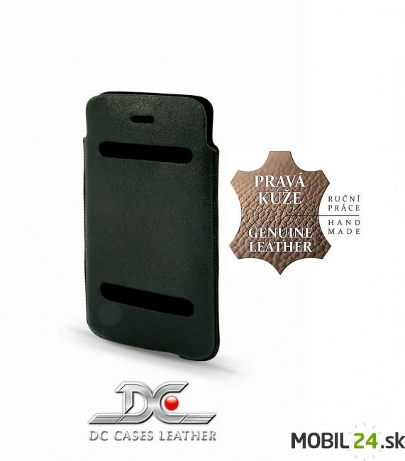 Puzdro na iPhone 5 5s SE kožené DC CASUAL Montone čierne - Mobil24 ... 3a97e236e72