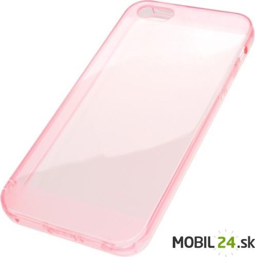 Puzdro na mobil iPhone 5 5S SE gumené Slim ružové 94ea1202a4b