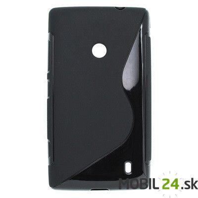 Puzdro na mobil Nokia Lumia 520 gumené čierne