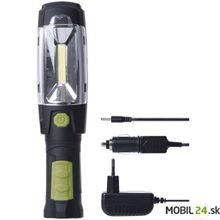 LED nabíjacie svietidlo 3W COB + 6x LED