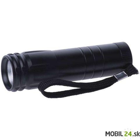 LED svietidlo 3W COB, na 3x AAA, čierne