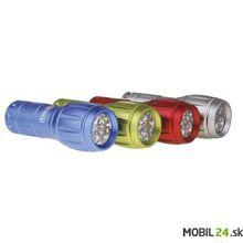 LED svietidlo kovové, 9x LED, na 3x AAA, modré