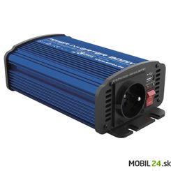 Menič napätia do auta 12V/230V, 300W, USB 2100mA