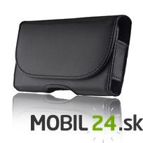Puzdro na mobil iPhone/Xperia/Samsung čierne veľkosť 13